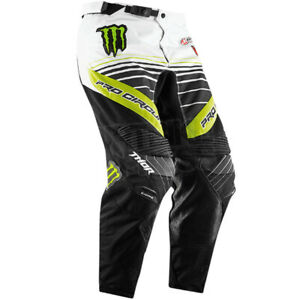 Thor Monster Energy Motocross Pants Adult Mens Size 30 Kawaski MX Dirt Bike