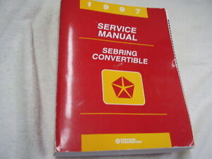 1997 CHRYSLER SEBRING CONVERTIBLE   ORIGINAL  SHOP MANUAL