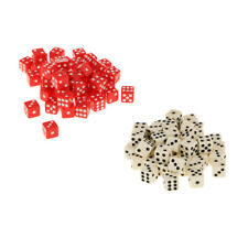 Dice Game Lover Dice Collectible 100x 12mm Six Sided D6 Die for Role Playing