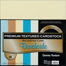 Core'Dinations Textured Cardstock Paper Pack 12 x 12 in 20 Sheets BEACH SIDE BE