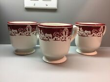 Williams Sonoma Winter Village Mugs
