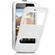 Etui Coque Silicone S-View Couleur blanc Universel XL pour Lenovo S860