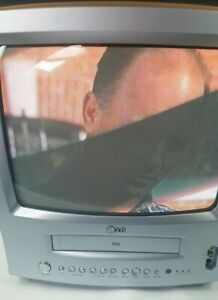 """Vintage LG VHS TV Combi Player CRT TV retro gaming, 14"""" tested and working."""