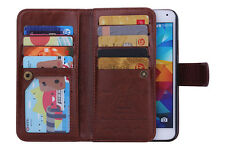 Luxury 9 Card Leather Wallet Stand Case Cover For Samsung Galaxy S5 6 Edge Note4