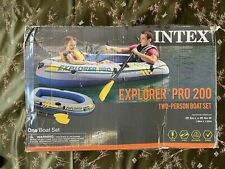 Intex Explorer Pro 200 Inflatable 2 Person Boat Pool Lake Camping Raft