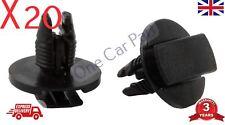 20x para Peugeot 207 307 308 Rueda Arco Protección contra salpicaduras Revestimiento Interior Recortar Clips Remache