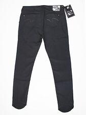 NUOVA linea donna Mish Mash Taglia 16 Gamba Lunga 34 L Stilletto Jeans Slim Fit Nero