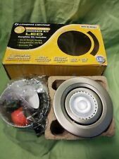 "Lithonia Lighting 3"" Brushed Nickel Recessed Gimbals LED Light Ceiling Kit."