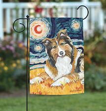 New Toland - Van Growl Shetland Sheepdog - Starry Night Puppy Dog Garden Flag