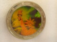 2001 Republic of Liberia $10 American Eagle Liberty Hologram Coin!