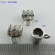 60/480pcs Antique Silver/Bronze Charms Spacer Bead Connectors Bails Pendants
