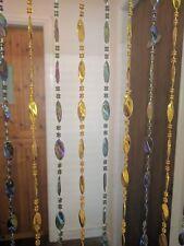 Shiny Porta Di Perline PER TENDE STANZA DIVISORE oro e nero brillante