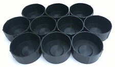 Pack of 10 MDI Protective Plastic Fishing Rod Tubes 2.5in -6.3cm End Caps Black