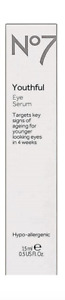 No7 Youthful Eye Serum, 0.5 fl. oz.