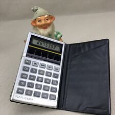 Ima Lc680A Vintage Solar Powered Calculator Pocket Sized in Case