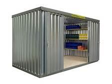 Fladafi - Lagercontainer Länge 4 m Materialcontainer Garrage Lagerhalle Halle