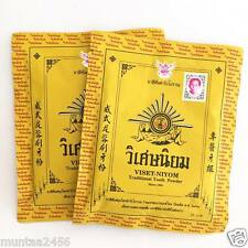 4x40g VISET NIYOM Thailand Traditional HERBAL TOOTHPASTE Powder Reduce Fresh Car