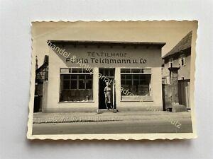 orig. Foto Jena Textilhaus Paula Teichmann Und Co. um 1940