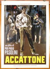 poster 50x70 film ACCATTONE Pier Paolo Pasolini 1961 NEOREALISMO SIMEONI