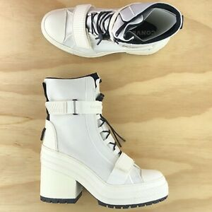 Converse Chuck Taylor All Star GR82 Triple White Womens Heel Boots 566326C Size