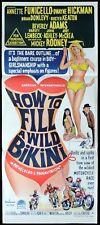 HOW TO FILL A WILD BIKINI Original Daybill Movie Poster Annette Funicello Stuff