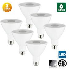 6-Pack Sunlite LED PAR30 Long Neck Bulbs, 3000K, Dimmable, 10W, Medium Base