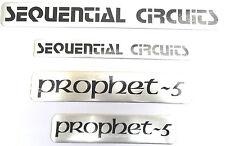 Sequential Circuits prophet-5 Aluminum Sticker Logo Badge Set of 4 Top-Quality!