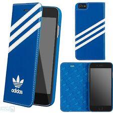 Adidas Basics book case cover iPhone 7 funda protectora bolso funda de móvil azul blanco