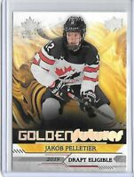 JAKOB PELLETIER 2019-20 UD Upper Deck Team Canada Juniors Golden Futures #GF-15