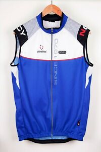 Nalini Pro Cyclewear Blue Full Zip Cycling Vest Top Size XL