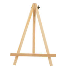 Solid Unpainted Wood Table Artist Easel Folded Picture Photo Writing Tools