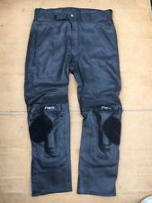 "FIGO Mens Race Leather Motorbike / Motorcycle Trousers Size UK 42"" Waist (LBD)"