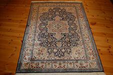 Cachemira-seda alfombra Kashmir ghom india oriental 1,81 x 1,28 metros fino