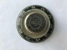 YALE LOCK CO. - COMBINATION LOCK DIAL FROM VAULT DOOR - 1910'S - RARE