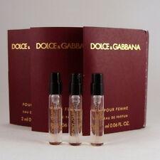 DOLCE & GABBANA pour Femme Eau de Parfum Spray Vial 2 ml 0.06 ed 2012 - 3 UNITS