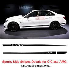 507 Side Stripes Decals Sticker for Mercedes Benz W204 C Class AMG Matt Black
