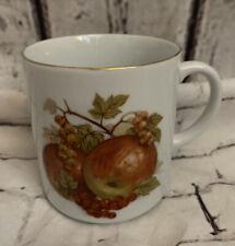 Vintage Bareuther Waldsassen Bavaria Germany Coffee Mug Cup Red Apples