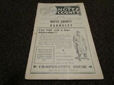 More details for notts county  v  barnsley  1955/6  ~ august 25th  vintage    *****free post*****