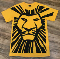 Vintage Disney The Lion King Broadway Musical Graphic Yellow T-shirt Size Small