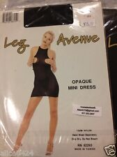 Stripper Go go Dancer Outfit Black Opaque Mini Dress Boobs out 8725 Leg Avenue