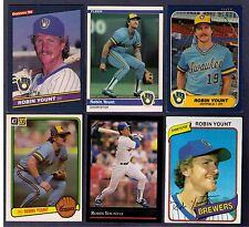Robin Yount, Hall of Famer, Lot of 6 cards.