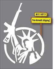 Statue Of Liberty With Gun AK47 Gun Rights 2nd Amendment QS4  Decal Sticker GN65
