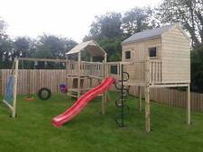 Double 6ft Tower Climbing Frame with Raised Playhouse / GREAT VALUE / RRP £1995