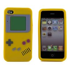 Apple iPhone 4 4S 4G Dark Yellow Gameboy Retro Smooth Silicone Case Cover Skin