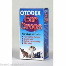 Dog cat otodex ear drops treatment solution clears wax