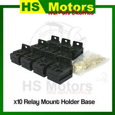 10 X Relay Mount Base Stackable to suit 4 & 5 pin automotive relays EPR4002-10