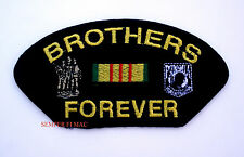 BROTHERS FOREVER VIETNAM PATCH US ARMY MARINES NAVY USCG AIR FORCE POW MIA VET