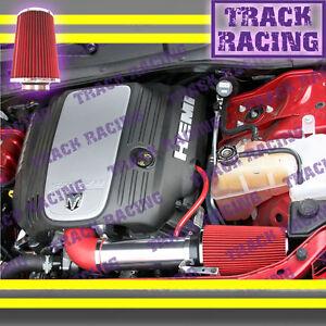 05-15 DODGE CHARGER MAGNUM CHALLENGER 300C 5.7L 6.1L V8 HEMI BIG AIR INTAKE Red