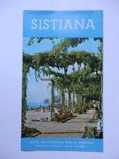 TRIESTE SISTIANA DUINO vecchia brochure