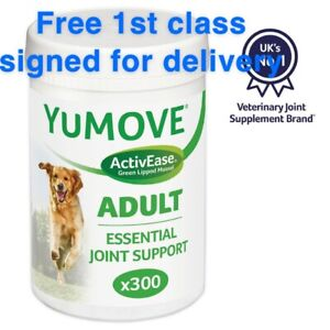 YuMOVE Green Lipped Mussel Joint Support Supplement For Adult Dogs 300 Tablets
